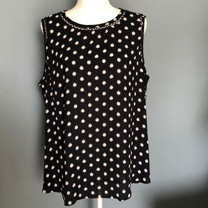 LOFT Sleeveless Top Scattered Dots